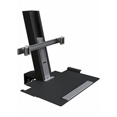Quickstand, Black, Heavy Mount Assembly with Large Platform and Crossbar