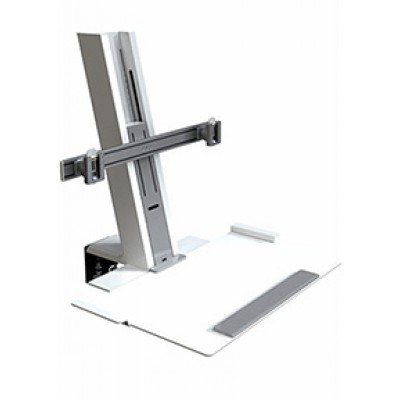 Quickstand, White Heavy Mount Assembly with Large Platform and Crossbar