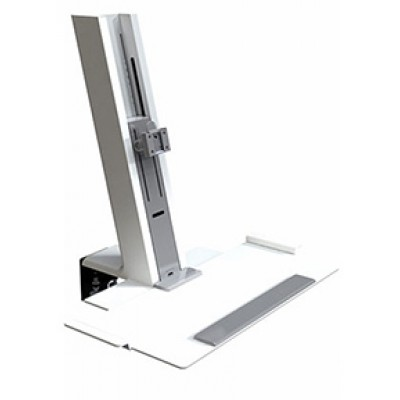 QuickStand White, Light Mount Assembly with Small Platform